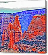 Trees Plateau Valley Color 2871ado National Monument  Canvas Print
