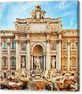 Trevi Fountain, Rome Canvas Print