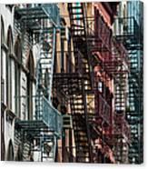 Tribeca Fire Escapes Canvas Print