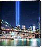 Tribute In Light From Brooklyn 1 Canvas Print