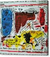 Tribute To Basquiat, Philosophy, And Activism Canvas Print
