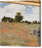 Tribute To Claude Monet Canvas Print