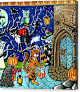 Trick Or Treat Halloween Cats Canvas Print