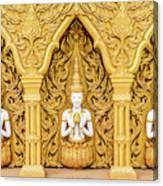 Triple Buddhas, Thailand Canvas Print