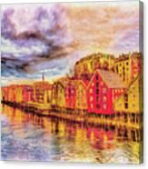 Trondheim - Waterfront Evening Canvas Print