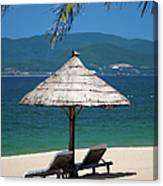 Tropical Holidays On Nha Trang Beach Canvas Print