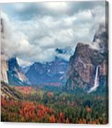 Tunnel View Of Yosemite National Park Canvas Print