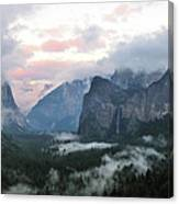 Tunnel View Yosemite National Park Canvas Print