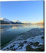 Turnagain Arm In Winter Alaska Canvas Print