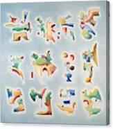 Twelve Glyphs Canvas Print
