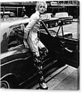 Twiggy Steps From Rolls Canvas Print