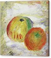 Two Apples, 1875 Canvas Print