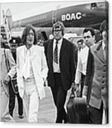 Two Beatles Arrive In New York Canvas Print