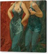 Two Dancers, 19th Century Canvas Print