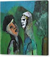 Two Men In A Field Canvas Print