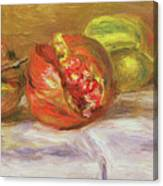 Two Pomegranates Canvas Print