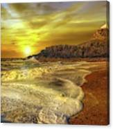 Twr Mawr Lighthouse Sunset Canvas Print