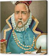 Tycho Brahe Illustration Canvas Print