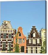 Typical Canal Houses, Amsterdam, The Canvas Print