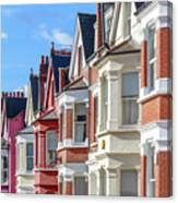 Typical English Terraced Houses In West Canvas Print