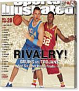 Ucla Kevin Love And Usc O.j. Mayo, 2007 College Basketball Sports Illustrated Cover Canvas Print