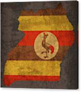 Uganda Country Flag Map Canvas Print