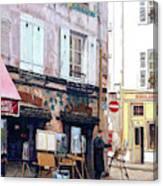 Un Artiste A La Place Du Tertre Paris. Canvas Print