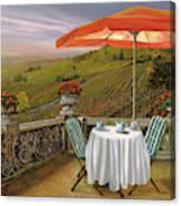Un Caffe' Nelle Vigne Canvas Print