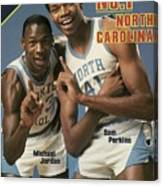 Unc Michael Jordan And Sam Perkins Sports Illustrated Cover Canvas Print
