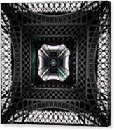 Underneath Of Eiffel Tower, Low Angle Canvas Print