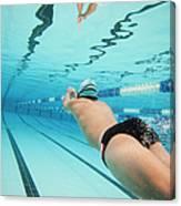 Underwater Swimmer Canvas Print