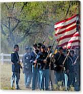 Union Infantry Advance Canvas Print