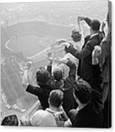 Univ. Of Pittsburgh Students Cheering Wi Canvas Print