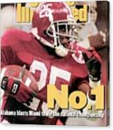 University Of Alabama Derrick Lassic, 1993 Usf&g Financial Sports Illustrated Cover Canvas Print