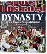 University Of Alabama Mark Ingram, 2010 Citi Bcs National Sports Illustrated Cover Canvas Print