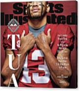 University Of Alabama Qb Tua Tagovailoa, 2018 College Sports Illustrated Cover Canvas Print