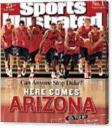 University Of Arizona Basketball Team Sports Illustrated Cover Canvas Print
