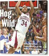 University Of Arkansas Corliss Williamson, 1994 Ncaa Sports Illustrated Cover Canvas Print