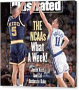 University Of California Jason Kidd, 1993 Ncaa Midwest Sports Illustrated Cover Canvas Print