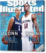 University Of Connecticut Diana Taurasi And Emeka Okafor Sports Illustrated Cover Canvas Print