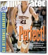 University Of Connecticut Jennifer Rizzotti, 1995 Ncaa Sports Illustrated Cover Canvas Print