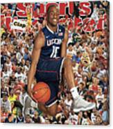 University Of Connecticut Kemba Walker, 2011 March Madness Sports Illustrated Cover Canvas Print