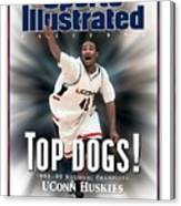 University Of Connecticut Khalid El-amin, 1999 Ncaa Sports Illustrated Cover Canvas Print