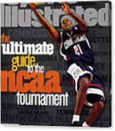 University Of Connecticut Ricky Moore, 1997 Ncaa Tournament Sports Illustrated Cover Canvas Print
