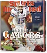 University Of Florida Florida Qb Tim Tebow, 2009 Fedex Bcs Sports Illustrated Cover Canvas Print