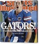University Of Florida Qb Tim Tebow, 2008 Sec Championship Sports Illustrated Cover Canvas Print