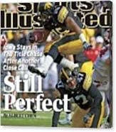 University Of Iowa Derrell Johnson-koulianos Sports Illustrated Cover Canvas Print