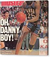 University Of Kansas Danny Manning, 1988 Ncaa National Sports Illustrated Cover Canvas Print
