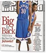University Of Kansas Julian Wright And Mario Chalmers Sports Illustrated Cover Canvas Print