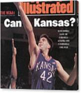 University Of Kansas Mark Randall, 1991 Ncaa Southeast Sports Illustrated Cover Canvas Print
